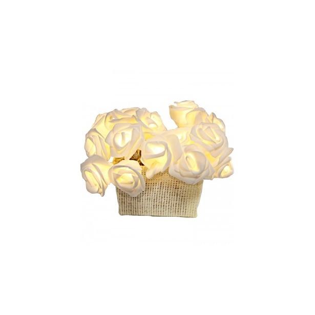фото Гирлянда на батарейках Star Trading Rose basket. Цвет: белый