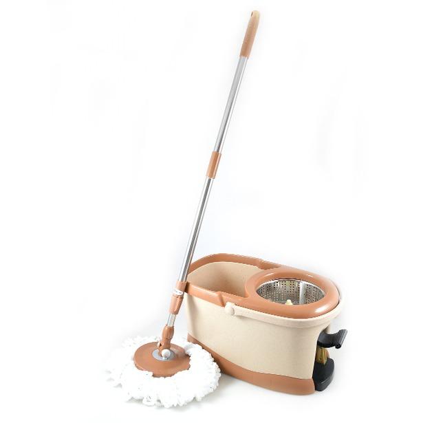 фото Комплект для уборки полов: швабра, ведро с отжимом QYMOP-06 Spin Mop