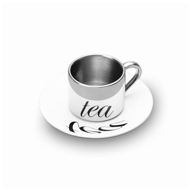 фото Кружка анаморфированная с блюдцем PO: Selected Tea