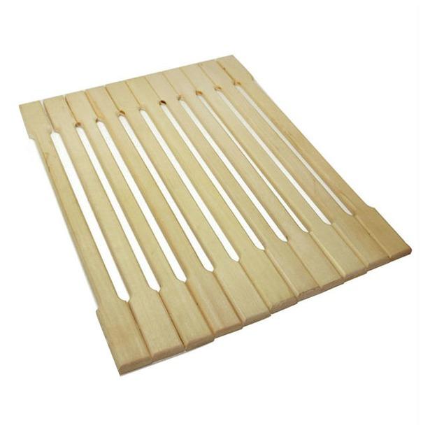 фото Коврик деревянный Банные штучки липовая рейка. Размер: 32х42 см