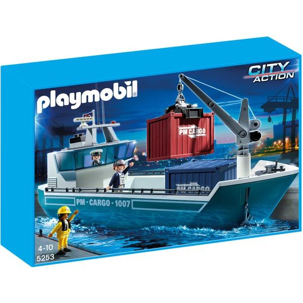 фото Грузовое судно с погрузочным краном Playmobil 5253pm