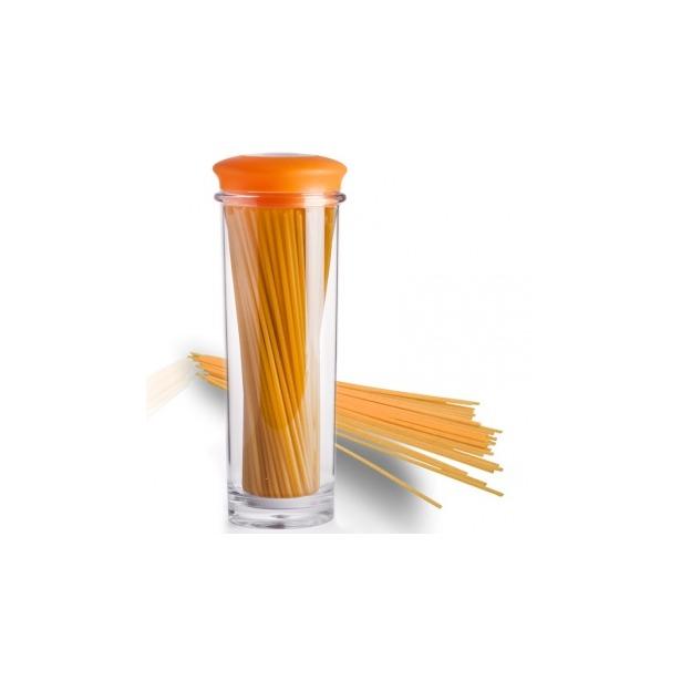 фото Банка для хранения вакуумная Qualy Storage Jar. Цвет: оранжевый, прозрачный. Размер: 31х9,5 см. Объем: 1,5 л
