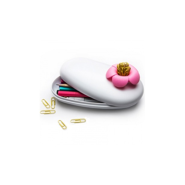 фото Пенал-шкатулка Qualy Blossom. Цвет: белый, розовый