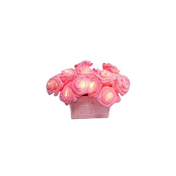 фото Гирлянда на батарейках Star Trading Rose basket. Цвет: розовый