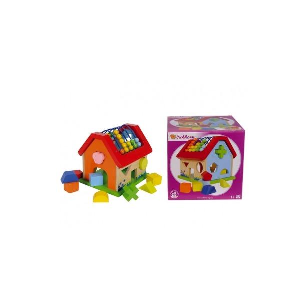 фото Игрушка развивающая с кубиками Eichhorn «Домик»
