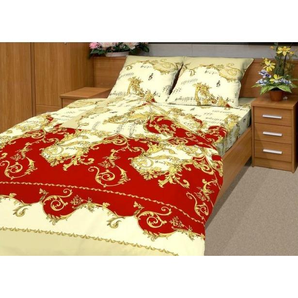 фото Комплект постельного белья Матекс «Ноктюрн». Евро, бордовый
