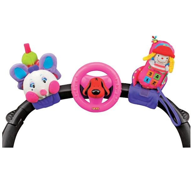 фото Набор развивающих игрушек для коляски K'S Kids «Гусеничка, руль и телефон»
