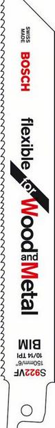 фото Набор пилок сабельных Bosch S 922 VF. Количество предметов: 5