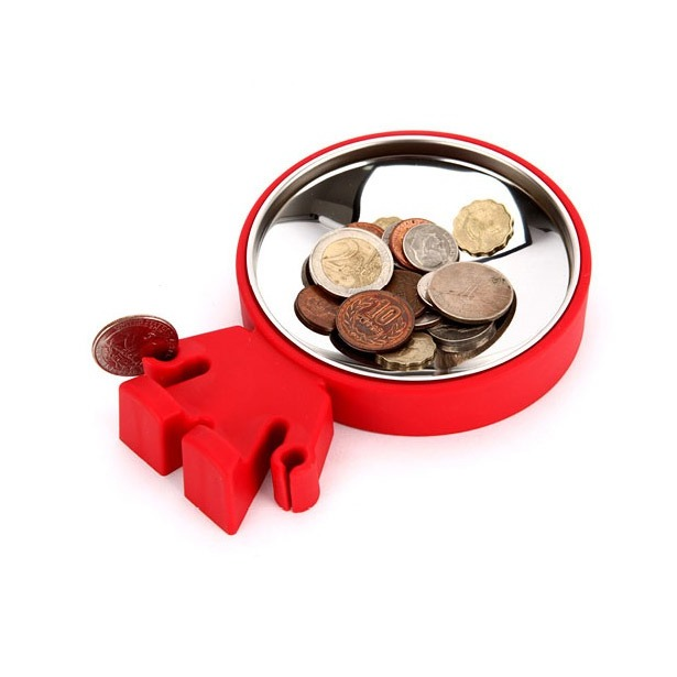 фото Тарелка для монет J-me Big Head. Цвет: красный