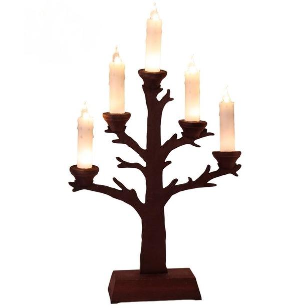 фото Светильник декоративный Star Trading Tree. Цвет: коричневый