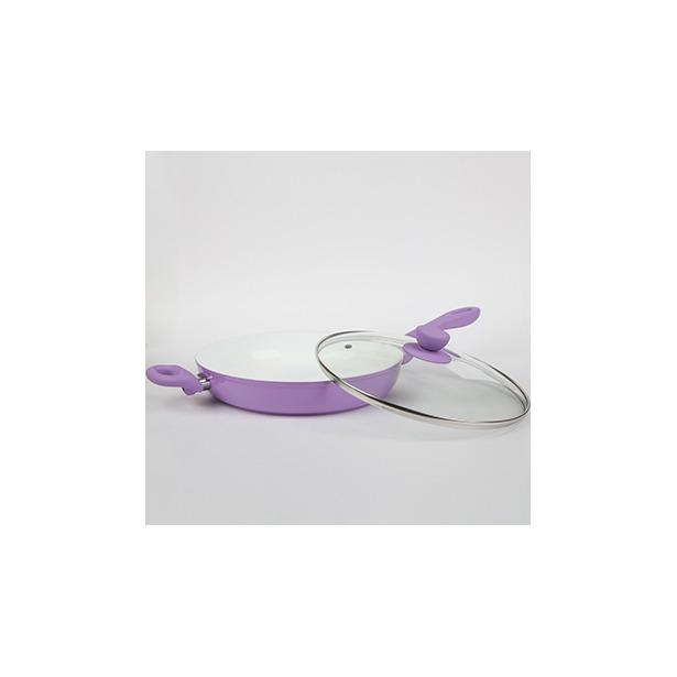 фото Сковорода с крышкой Alpenkok АК-0006/28К. Цвет: фиолетовый