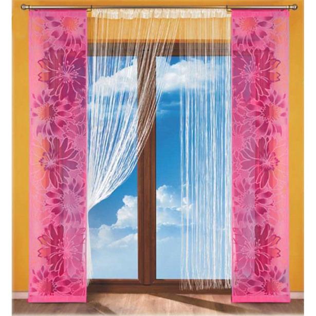 фото Гардина-панно Wisan 112 А. Цвет: розовый