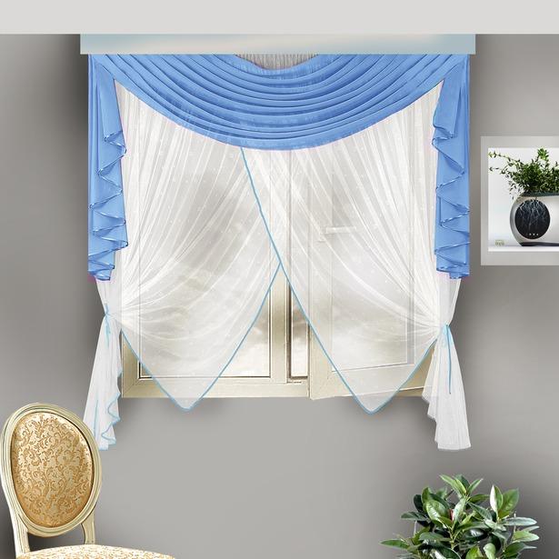 фото Комплект штор Zlata Korunka Б108. Цвет: голубой