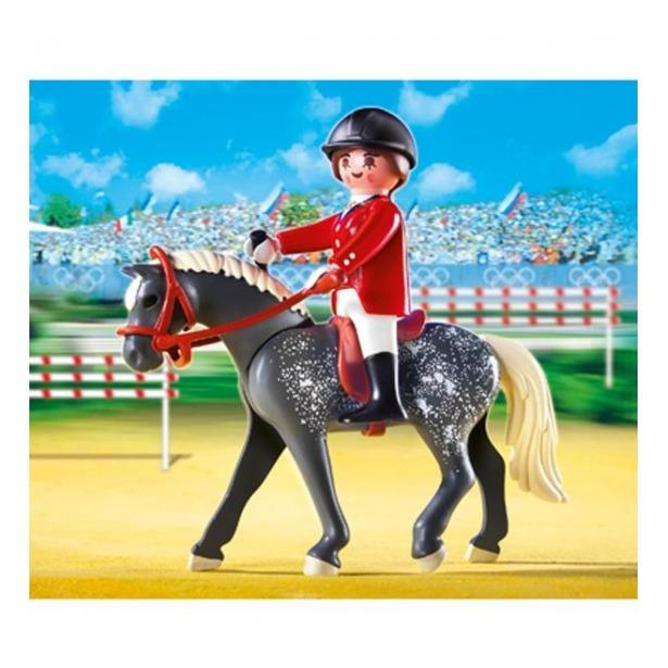 фото Трекерная лошадь со стойлом Playmobil 5110pm