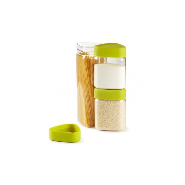 фото Контейнеры для сыпучих продуктов Umbra Tricon. Цвет: зеленый