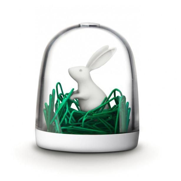 фото Держатель для скрепок Qualy Bunny in the field