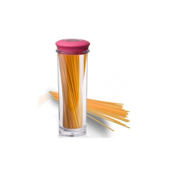 фото Банка для хранения вакуумная Qualy Storage Jar. Цвет: розовый, прозрачный. Размер: 31х9,5 см. Объем: 1,5 л