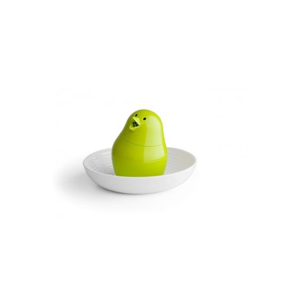 фото Набор для завтрака и специй Qualy Jib-Jib. Цвет: белый, зеленый