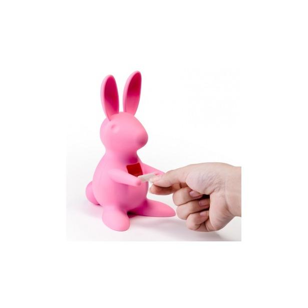 фото Диспенсер для скотча настольный Qualy Bunny. Цвет: розовый