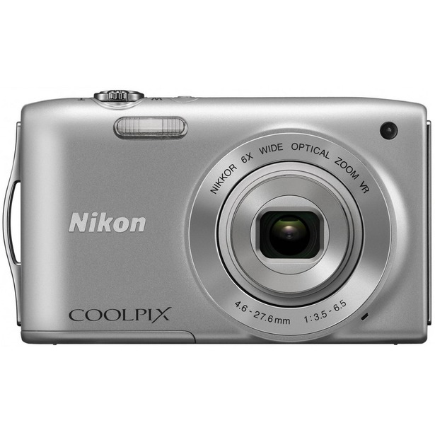 фото Фотокамера цифровая Nikon CoolPix S3300. Цвет: серебристый