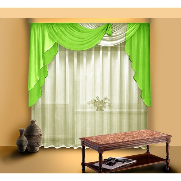фото Комплект штор Zlata Korunka Б046. Цвет: салатовый