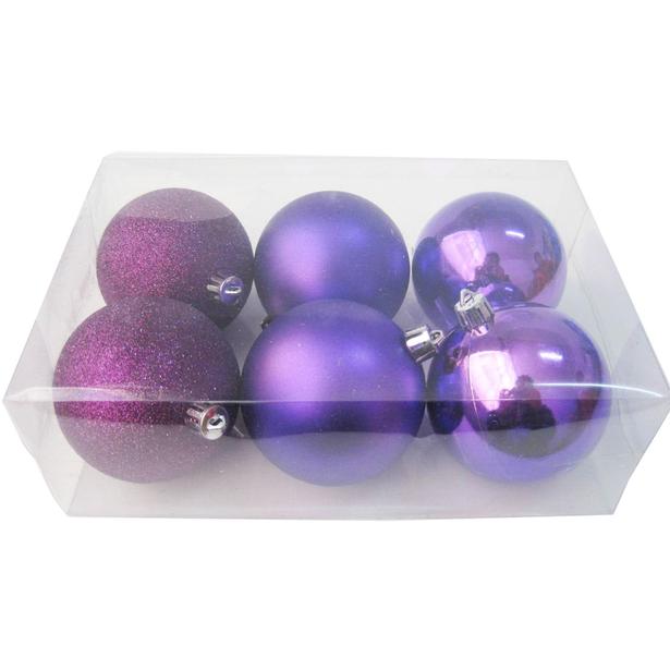 фото Шары новогодние Irit «Фиолет»