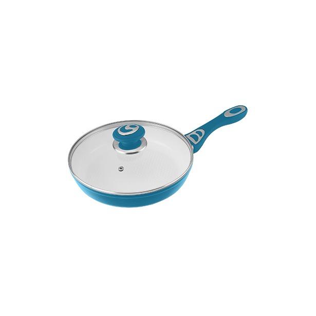 фото Сковорода с крышкой Alpenkok АК-0007. Цвет: синий. Диаметр: 28 см