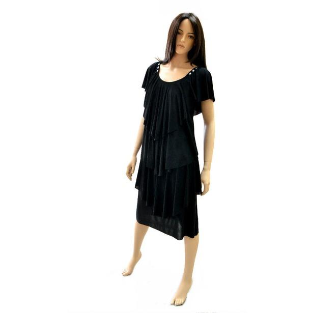 фото Платье Klimini Мальдивы. Цвет: черный. Размер одежды: 46