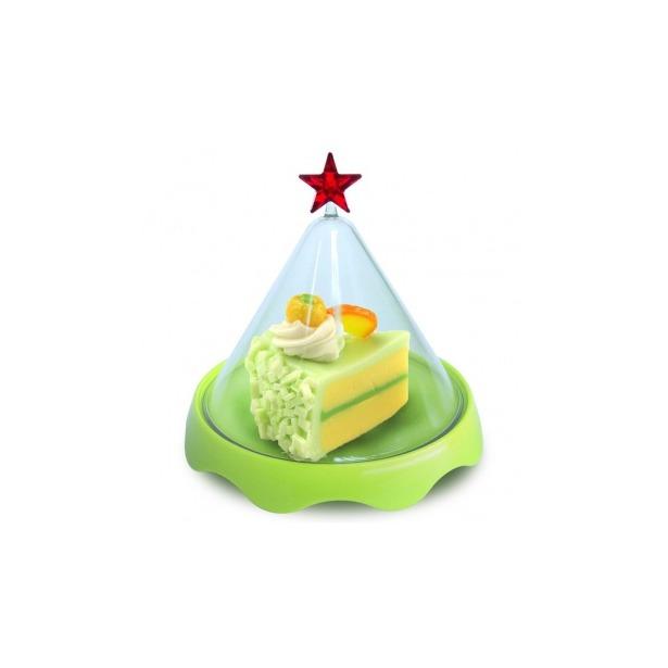 фото Тортовница малая Qualy Merry Tray. Цвет: зеленый