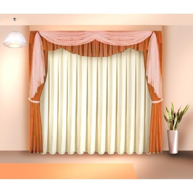 фото Комплект штор Zlata Korunka «Фавила». Цвет: коричневый