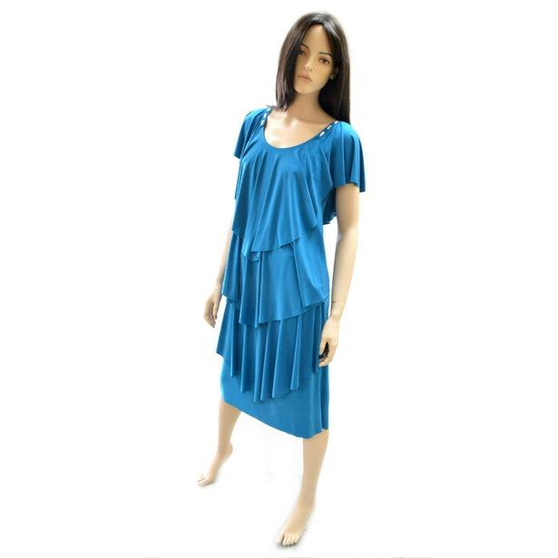 фото Платье Klimini Мальдивы. Цвет: бирюзовый. Размер одежды: 44