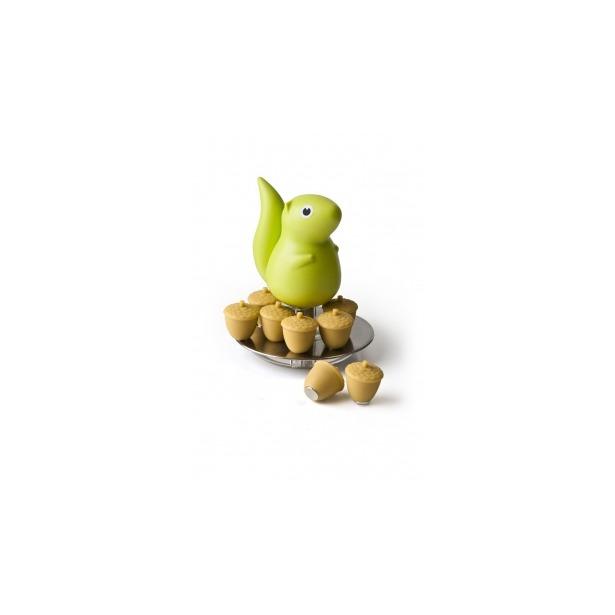 фото Магниты с подставкой Qualy Squirrel. Цвет: зеленый