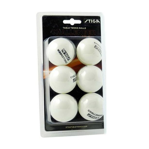 фото Мячи для настольного тенниса Stiga Challenger. Цвет: белый