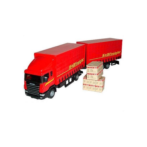 фото Модель автомобиля AUTOTIME Scania. Автопоезд 34441. В ассортименте