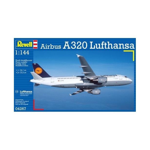 фото Сборная модель пассажирского самолета Revell Airbus A320 Lufthansa