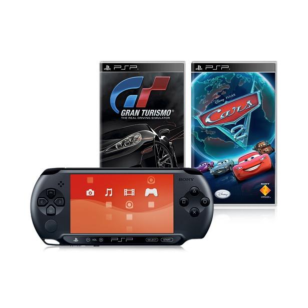 фото Консоль игровая SONY PlayStation Portable E-1008 и игры GT и Cars 2