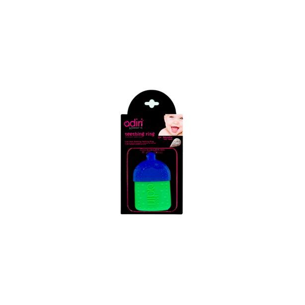 фото Прорезыватель для зубов Adiri Bottle Teething Ring. Цвет: голубой