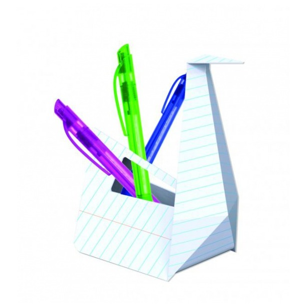 фото Карандашница оригами Mustard Peacock