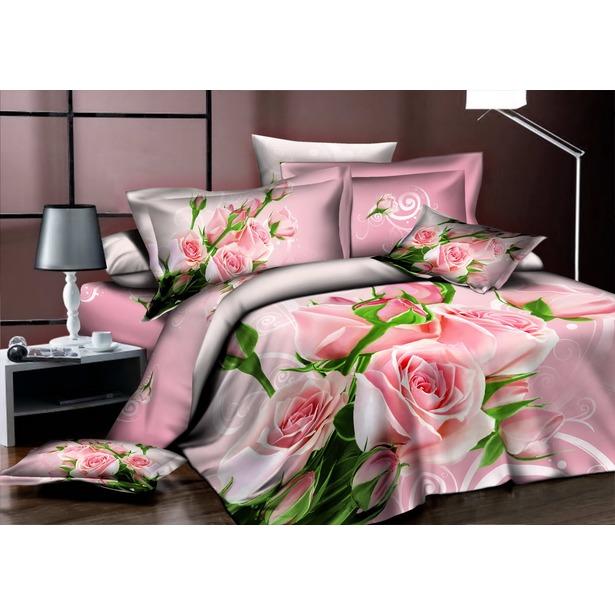 фото Комплект постельного белья Аура «Нежные розы». Евро