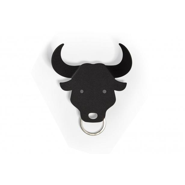 фото Держатель для ключей и аксессуаров Qualy Bull. Цвет: черный