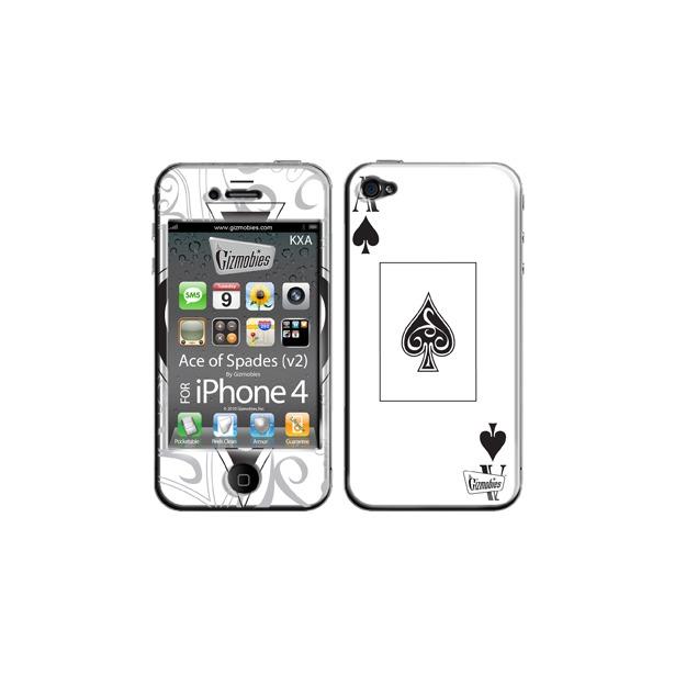 фото Наклейка 3D для iPhone 4G Gizmobies Ace of Spades