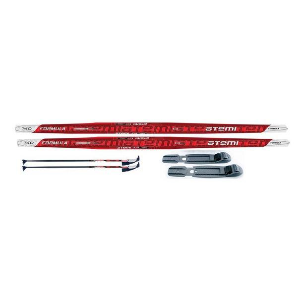 фото Комплект лыжный ATEMI Formula STEP комби. Цвет: красный. Ростовка (длина лыжи): 110 см