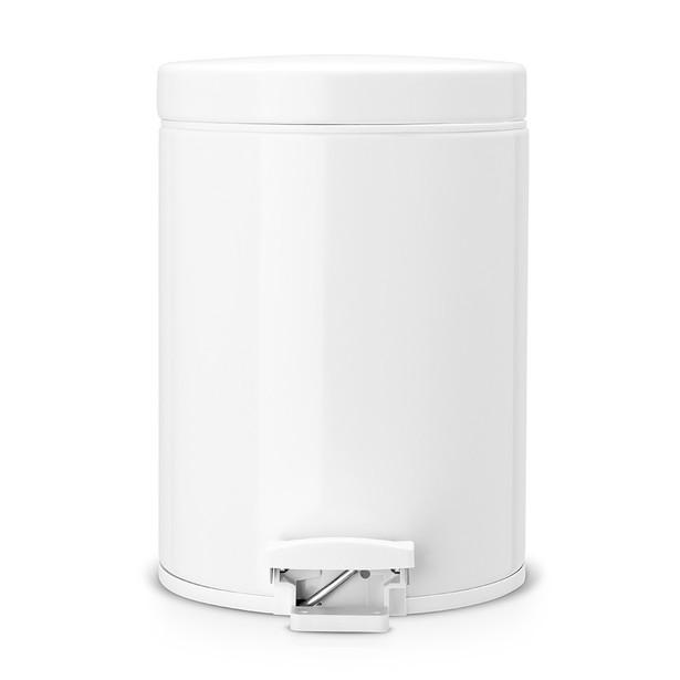 фото Бак для мусора с педалью Brabantia. Объем: 5 литров. Цвет: белый. Уцененный товар