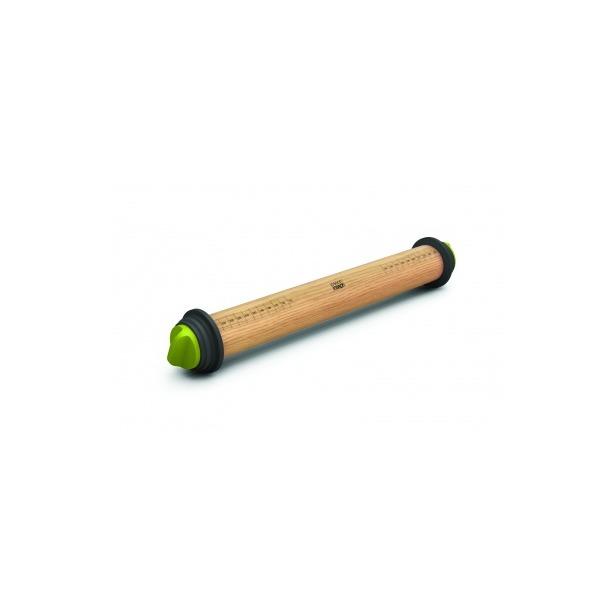 фото Скалка регулируемая Joseph Joseph Adjustable Rolling Pin. Цвет: зеленый, серый. Габариты: 69x435x69