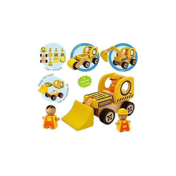 фото Игровой набор I'm toy «Строительная спецтехника»