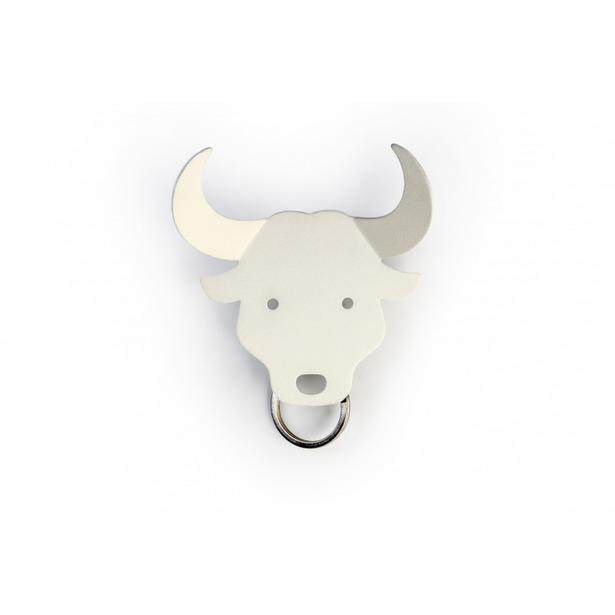 фото Держатель для ключей и аксессуаров Qualy Bull. Цвет: белый