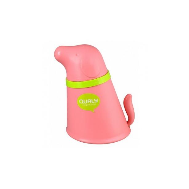 фото Контейнер и миска для собаки Qualy Pupp. Цвет: розовый