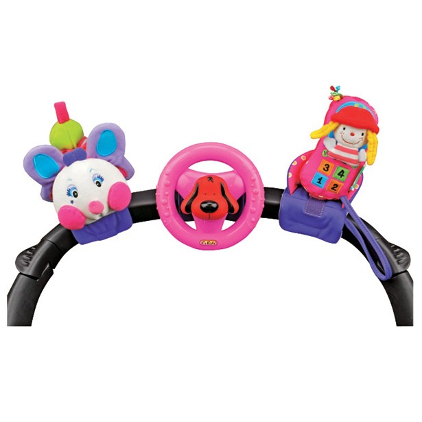 фото Игрушка на руль K'S Kids «Гусеница, руль и мобильный телефон»