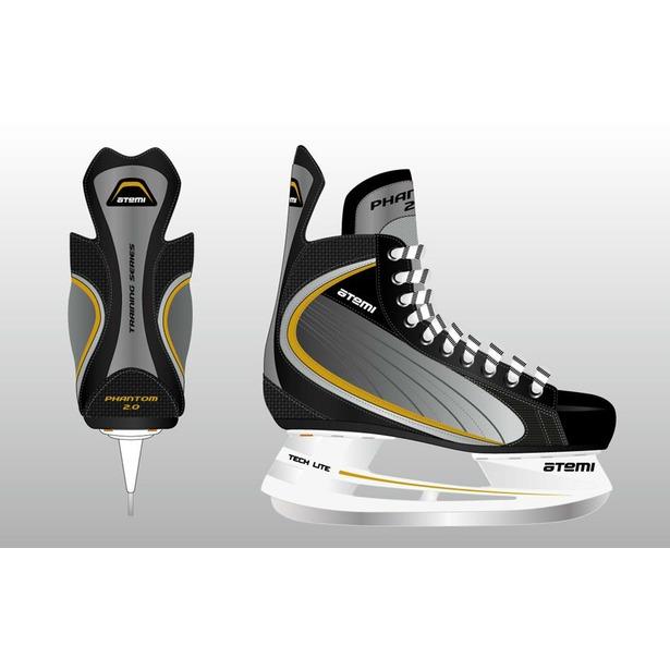 фото Коньки хоккейные ATEMI PHANTOM 2.0 GOLD. Размер: 38