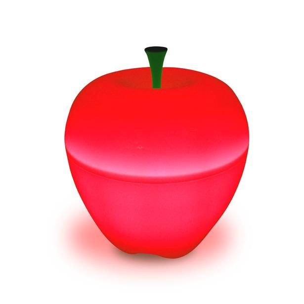 фото Лампа Qualy Happle. Цвет: красный. Габариты: 180x180x180
